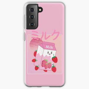 Georgenotfound strawberry milk shake Samsung Galaxy Soft Case RB0906 product Offical GeorgeNotFound Merch