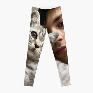 GeorgeNotFound with his cat Leggings RB0906 product Offical GeorgeNotFound Merch