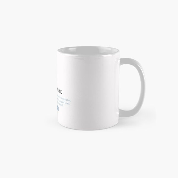 Georgenotfound 404 Classic Mug RB0906 product Offical GeorgeNotFound Merch