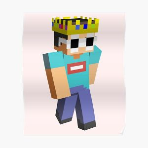 Georgenotfound Glasses Funny Minecraft  Poster RB0906 product Offical GeorgeNotFound Merch
