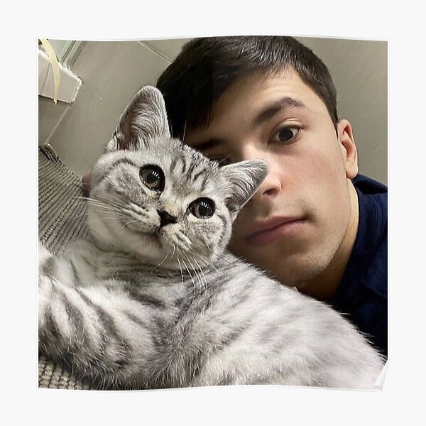 GeorgeNotFound with his cat Poster RB0906 product Offical GeorgeNotFound Merch