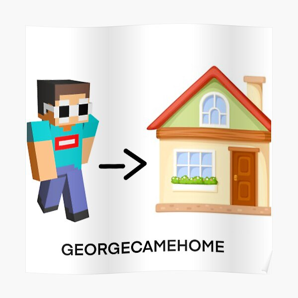 GEORGENOTFOUND CAME HOME Poster RB0906 product Offical GeorgeNotFound Merch