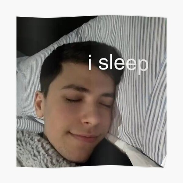 GeorgeNotFound I sleep Poster RB0906 product Offical GeorgeNotFound Merch