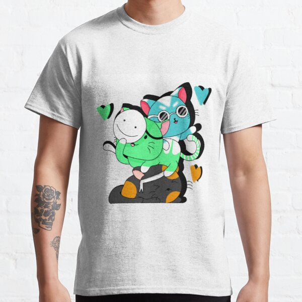 Dream Team (dreamwastaken, georgenotfound & sapnap) as cats Classic T-Shirt RB0906 product Offical GeorgeNotFound Merch