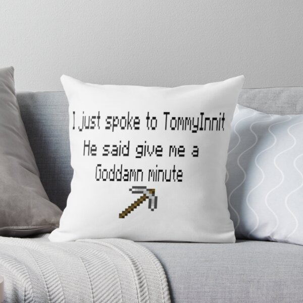 tommyinnit georgenotfound song Throw Pillow RB0906 product Offical GeorgeNotFound Merch
