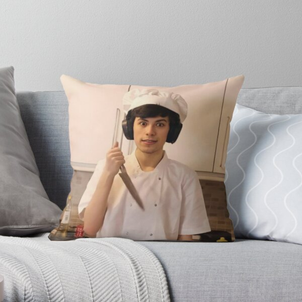 GeorgeNotFound holding knife Throw Pillow RB0906 product Offical GeorgeNotFound Merch