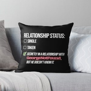 Relationship with GeorgeNotFound Throw Pillow RB0906 product Offical GeorgeNotFound Merch