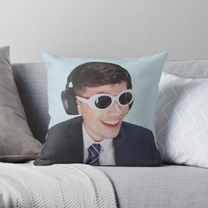 GeorgeNotFound in Goggles  Throw Pillow RB0906 product Offical GeorgeNotFound Merch