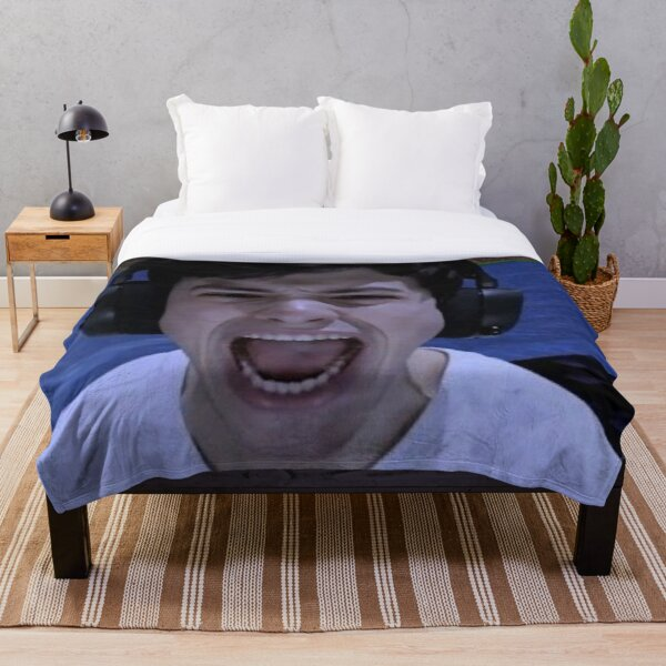 GeorgeNotFound screams Throw Blanket RB0906 product Offical GeorgeNotFound Merch