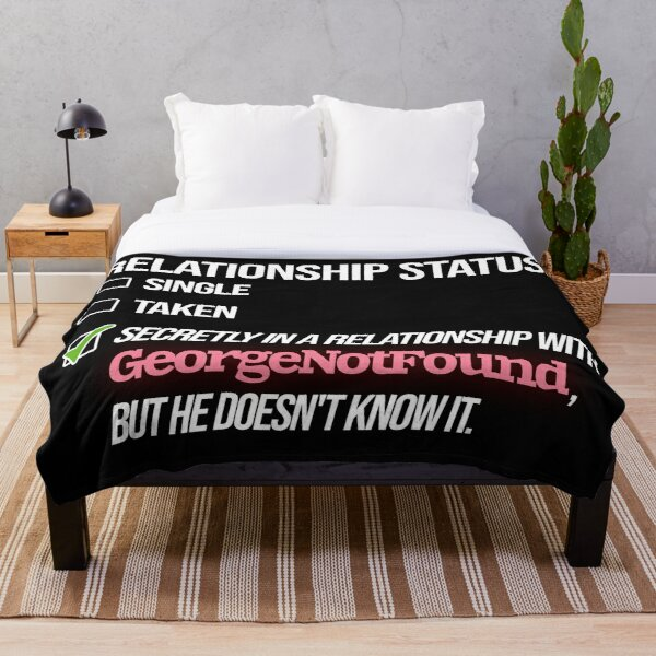 Relationship with GeorgeNotFound Throw Blanket RB0906 product Offical GeorgeNotFound Merch