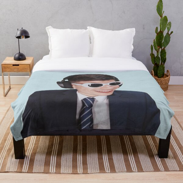 GeorgeNotFound in Goggles  Throw Blanket RB0906 product Offical GeorgeNotFound Merch