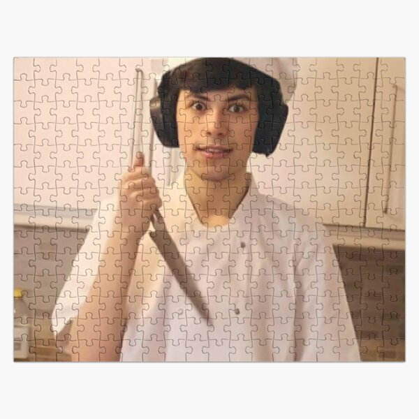 GeorgeNotFound holding knife Jigsaw Puzzle RB0906 product Offical GeorgeNotFound Merch
