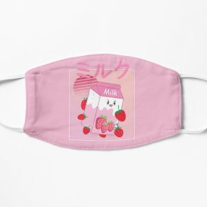 Georgenotfound strawberry milk shake Flat Mask RB0906 product Offical GeorgeNotFound Merch
