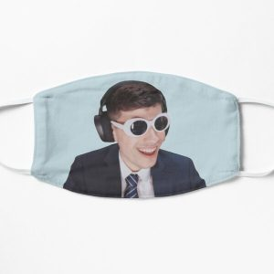 GeorgeNotFound in Goggles  Flat Mask RB0906 product Offical GeorgeNotFound Merch