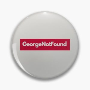 georgenotfound grey Pin RB0906 product Offical GeorgeNotFound Merch