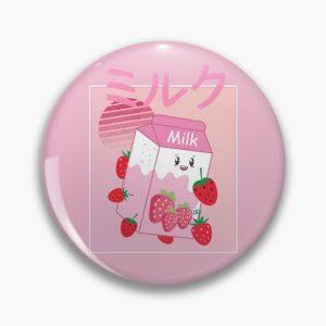 Georgenotfound strawberry milk shake Pin RB0906 product Offical GeorgeNotFound Merch