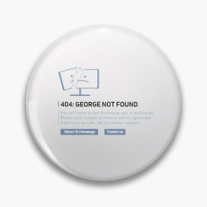 Georgenotfound 404 Pin RB0906 product Offical GeorgeNotFound Merch