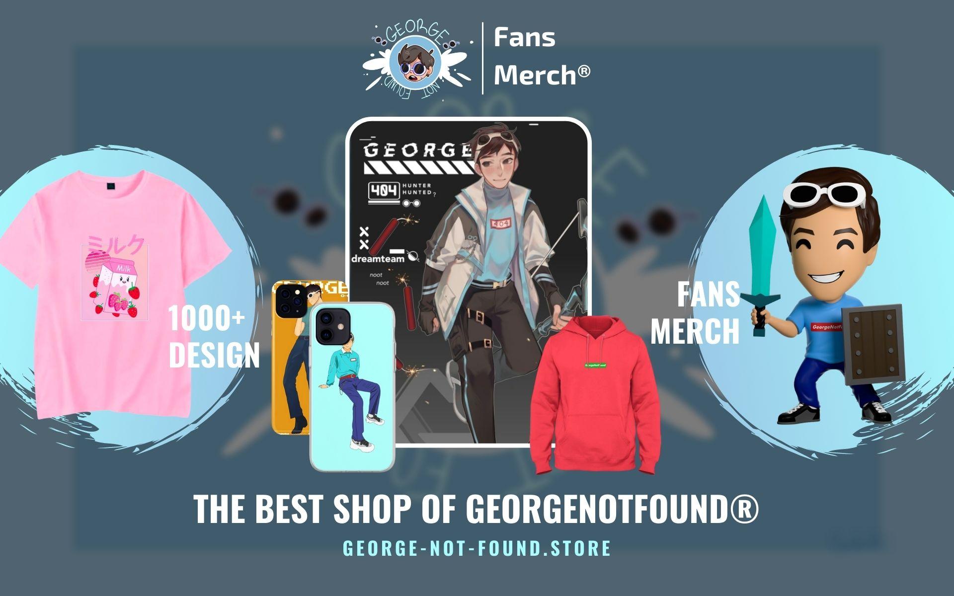 GeorgeNotFound Merch Web Banner - GeorgeNotFound Store